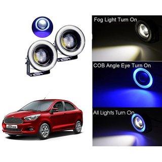 Car Fog Lamp Blue Angel Eye DRL Led Light For Ford Figo Aspire