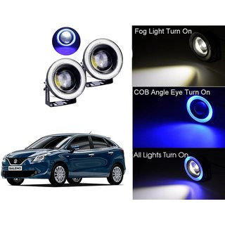 Car Fog Lamp Blue Angel Eye DRL Led Light For Maruti Suzuki Baleno
