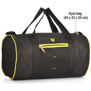 Buy Top Gear Yellow Black Gym Bag Online - Get 13% Off c221ab12c28cb