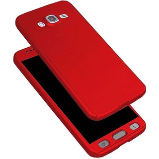 iPaky 360 Full Body Protection With Tempered Front & Back Cover for Samsung Galaxy Grand Prime (G530) - Red