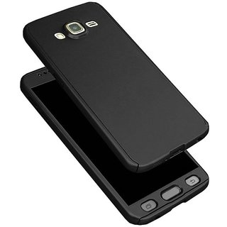 iPaky 360 Full Body Protection With Tempered Front & Back Cover for Samsung Galaxy On5 - Black