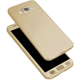 promo code 75607 79c3d iPaky 360 Full Body Protection With Tempered Front & Back Cover for Samsung  Galaxy On7 - Gold