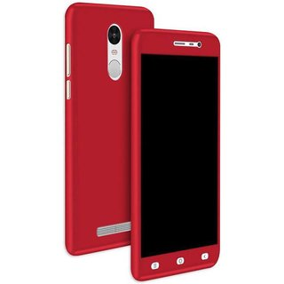iPaky 360 Full Body Protection With Tempered Front & Back Cover for Xiaomi Redmi Note 3 - Red