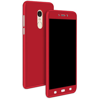 huge discount a553b 4156b iPaky 360 Full Body Protection With Tempered Front & Back Cover for Xiaomi  Redmi Note 4 - Red