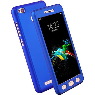 iPaky 360 Full Body Protection With Tempered Front & Back Cover for Xiaomi Redmi 4 / 4X - Blue