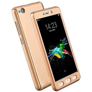 the best attitude d317b ff56a iPaky 360 Full Body Protection With Tempered Front & Back Cover for Xiaomi  Redmi 4A - Gold