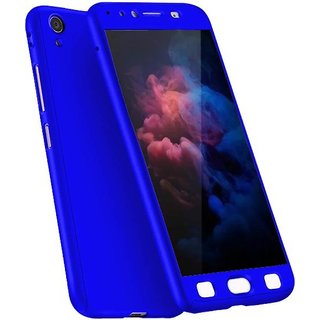 release date: b1609 cd0c1 iPaky 360 Full Body Protection With Tempered Front & Back Cover for Oppo  A37 - Blue