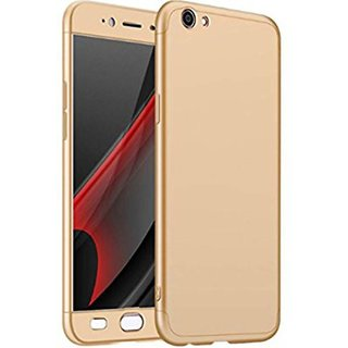 Buy iPaky 360 Full Body Protection With Tempered Front & Back Cover for Oppo F1s - Gold Online - Get 70% Off