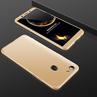 factory authentic b154b 4c588 iPaky 360 Full Body Protection With Tempered Front & Back Cover for Oppo F7  - Gold