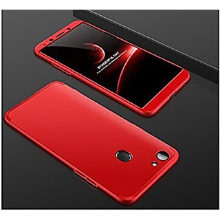 new arrival 302fc bae3c iPaky 360 Full Body Protection With Tempered Front & Back Cover for Oppo F7  - Red