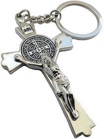 Vintage Creative Jesus Christian cross Key Chain Ring Keyring Metal Keychain