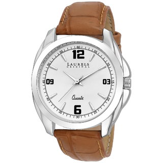 Laurels White Color Analog Men's Watch With Strap LWM-DIP-011607