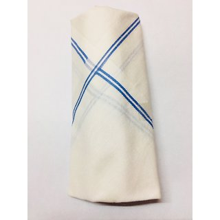 White Blue Line Napkin