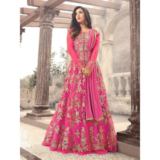 e836312ab50 Buy Latest Fancy Party Wear Net Embroidered Anarkali Salwar Suit Gown  Online - Get 59% Off