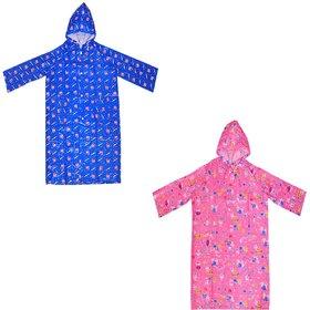 Pari  Prince Raincoat Assorted Multicolour Prints For Kids (Pack of 2)
