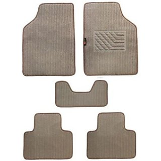 KunjZone Carpet Floor Car Mat Chevrolet Aveo (Beige)