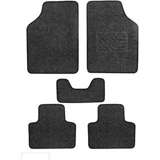 KunjZone Carpet Floor Car Mat Honda Brio (Black)