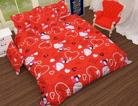 craftwell amazing hello kitty 3d bedsheet with 2 Pillow cover