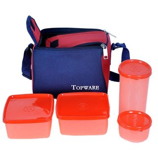 topware lunch box orange