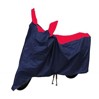 KunjZone Bike Body Cover Blue And Red with Mirror Pockets for Honda Deo