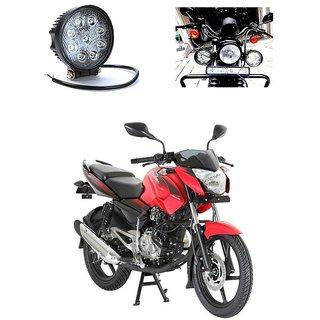 CTN Round Shape 9 LED Bike Projector White Aux Light For Bajaj Pulsar 135 LS