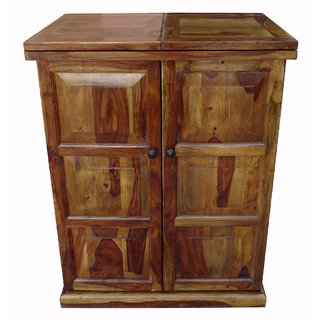 Shubham Arts Brown Color Wooden Bar Counter With 3 Drawer