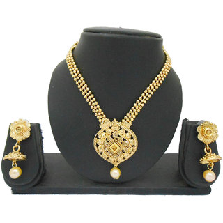 My Design Bridal Gold Plated Pearl Kundan Set For Women And Girls