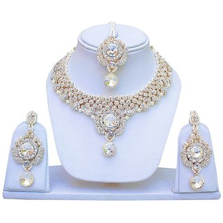 Jewels Capital Exclusive White Necklace Set / S 2447