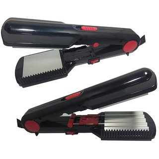 2 in 1 Electric Hair Styler - Hair Straightener and Hair Crimper in one - NHC-461-2