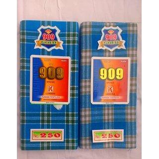 100 Cotton Premium Lungi- Pack of 2 (VCH Retail)