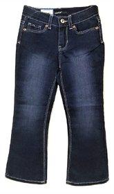 Girls Dark Blue Boot Cut Jeans