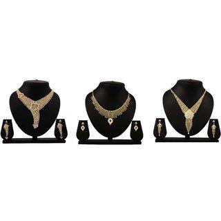 Bahucharaji Creation Presents Golden Color Alloy Jewelery Set.