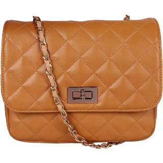 d830454556 Buy Osaiz Brown Sling Quilted Sling Bag For Girls Stylish Online ...