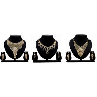Bahucharaji Creation Presents Golden Color Alloy Jewelery Set.