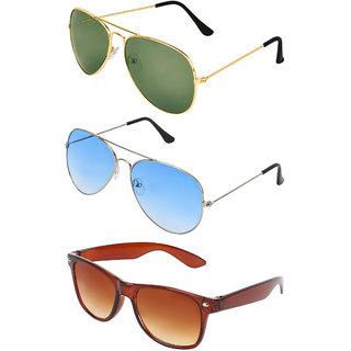 5cc667112d Buy Zyaden Green UV Protection Metal Unisex Sunglasses Online - Get 60% Off