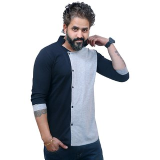 Mens New Shirts Designer | Buy Eg Solid Men S Mandarin Collar T Shirt Multicolor T Shirt