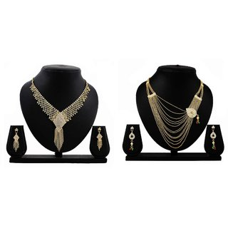 Dealseven Fashion Presents Golden Color Alloy Jewelery Set.