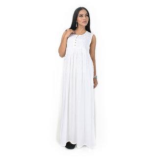011ae601717043 Buy Rohia Designer Chikan Kurti Umbrella Style Embroidered with White  Thread