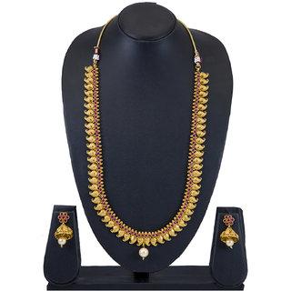 Sukkhi Moddish Kairi Design Gold Plated Long Necklace Set For Women