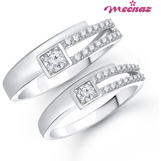 Amaal Ring Jewellery Set bo Silver Plated Cz In American Diamond For Women And Girls  Com020512
