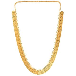Awww Gold-Plated Temple Coin Necklace Set For Women
