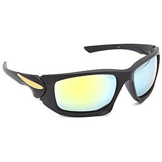HRINKAR Men's Multicolour Mirrored Sports Sunglasses