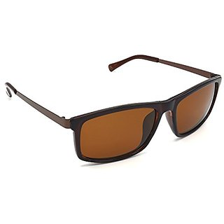 ac20c73d34 Buy HRINKAR Men s Brown Mirrored Rectangular Sunglasses Online - Get ...