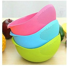 Rice Plastic Pulses Strainer Multicolor No. of Pieces 1