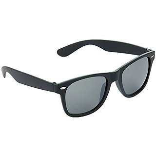 HRINKAR Men's Black Mirrored Wayfarer Sunglasses
