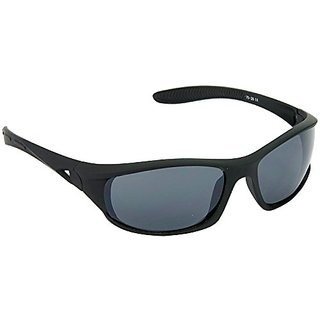 HRINKAR Men's Grey Mirrored Sports Sunglasses