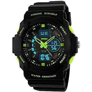 jay shree khodiyar Skmei Analogue-Digital Black Dial Mens Boys Watch(jsk-955-Green-01)