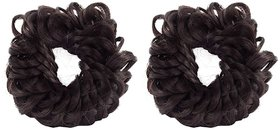 GaDinStylo Fancy Rubber Juda Hair Band For Women And Girls  Juda Accessories For Women Set Of 2 (Brown)