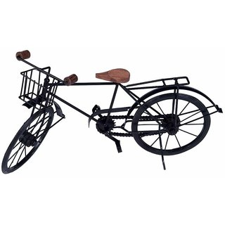 BuzyKart Wrought Iron Model Cycle Miniature With Basket On Handle