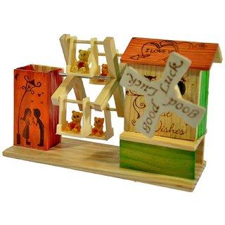 BuzyKart Musical Toy / Jhoola Hammock / Table Decor / Wooden Showpiece /Children Toy